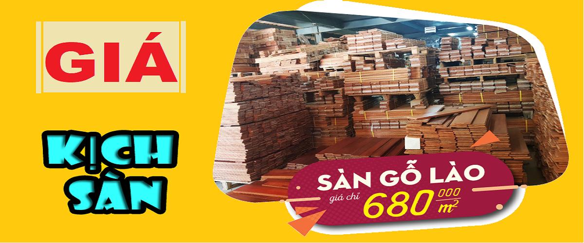 Sàn gỗ Lào 680K