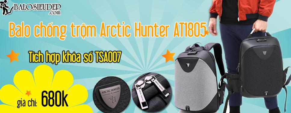 Balo siêu chống trộm Arctic Hunter AT1805 chính hãng bảo hành 3 năm