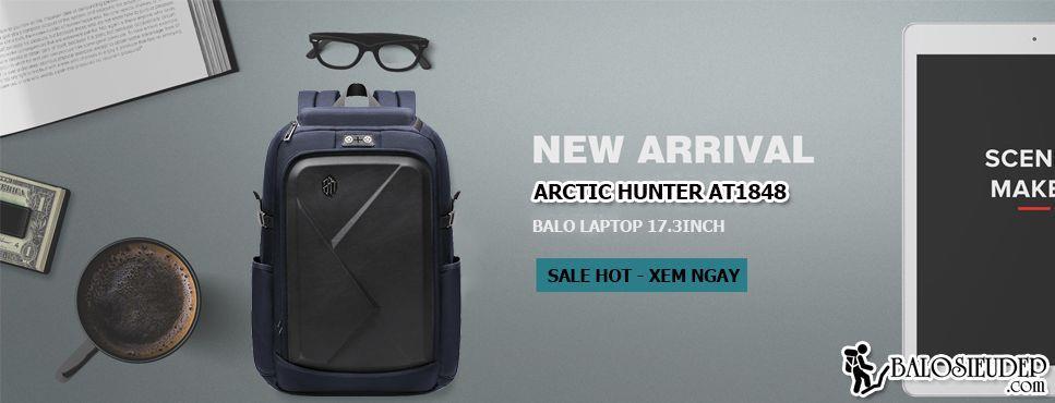 Balo laptop 17.3inch Arctic Hunter At1848 chính hãng
