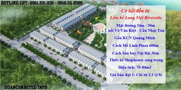 Liền kề Long Việt Riverside Mê Linh