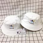 Mũ bucket trắng ngộ nghĩnh