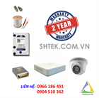 Trọn bộ 5-8 camera 2.0MP Hikvision