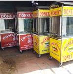 Bộ xe doner kebab 2 bếp