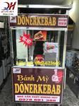 Xe bánh mỳ Doner kebab chất liệu Inox chống ghỉ