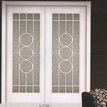 Lattice glass - Cửa gỗ solid veneer lưới kính