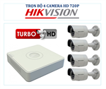 Trọn bộ 4 camera HD hãng Hikvision