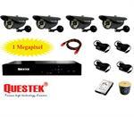 Trọn bộ camera Questek QTX-1311AHD + DVR 4CH