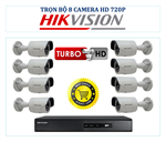 Trọn bộ 8 camera HD hãng Hikvision