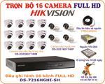 Trọn bộ 16 camera HD hãng Hikvision