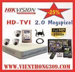 TRỌN BỘ 03 CAMERA HIKVISION HD TVI 2.0