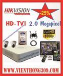 TRỌN BỘ 02 CAMERA HIKVISION HD TVI 2.0