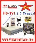 TRỌN BỘ 01 CAMERA HIKVISION HD TVI 2.0