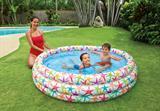 Bể bơi 3 tầng tròn hoa văn đại dương + tặng kèm bơm điện