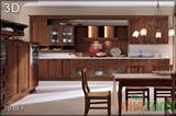 Tủ bếp sồi mỹ 1