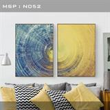 Bộ tranh treo tường nghệ thuật màu sắc đẹp N052