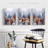 Bộ tranh treo tường nghệ thuật Bắc Âu N086