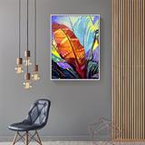 Tranh nghệ thuật lá chuối màu sắc N061