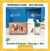 Combo 1 Lifepak + 1 Omega + 1 Bioginkgo  NuSkin