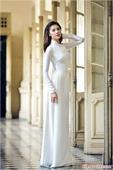 Áo dài lụa trắng AD032