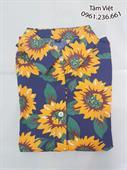 Bộ quần áo đi biển họa tiết hoa hướng dương