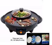 Nồi lẩu điện kiêm bếp nướng đa năng + Tặng ngay kem tẩy vật dụng nhà bếp