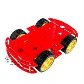 Khung xe robot 4 bánh 4WD ( mica đỏ, đen,xanh- 2 tầng)