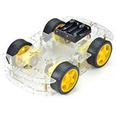 Khung xe robot 4 bánh 4WD ( mica trong - 2 tầng)