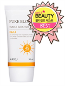 Kem Chống Nắng A'Pieu Pure Block Natural Daily Sun Cream SPF45/PA+++