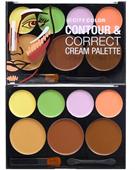 Bảng Kem Tạo Khối Che Khuyết Điểm City Color Contour & Correct Cream Palette