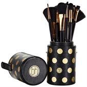 Bộ Cọ Trang Điểm 11 Cây BH Cosmetics Dot Collection Brush Set Black