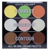 Che Khuyết Điểm + Tạo Khối + Bắt Sáng City Color All-in-One Cream Palette
