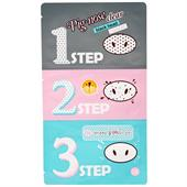 Miếng Lột Mụn Mũi Holika Holika Pig Clear 3 Step Kit
