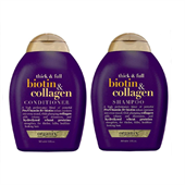 Cặp Dầu Gội Xả OGX Biotin Collagen Shampoo & Conditioner 385ml