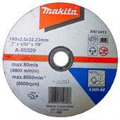 Đá cắt cho kim loại Makita 180x2.5x22.23mm-A-85329