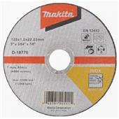Đá cắt cho Inox Makita Ø125x1.2x22.23mm-D-18770