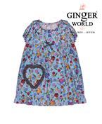 Đầm mặc nhà túi trái tim phối caro DN007 GINGER WORLD