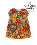 Đầm mặc nhà túi trái tim phối caro DN008 GINGER WORLD