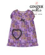 Đầm mặc nhà túi trái tim phối caro DN011 GINGER WORLD