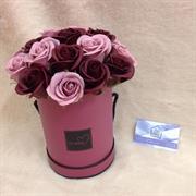 Hoa sáp hộp tròn 20 bông