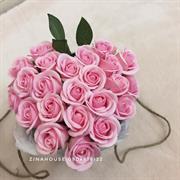 Giỏ hoa sáp trái tim