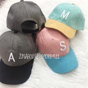 Mũ da lộn 2 màu