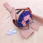 Bó hoa sáp tone tím hồng