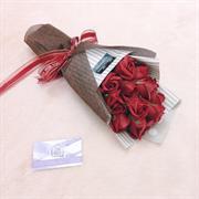 Bó hoa sáp đỏ 12 bông