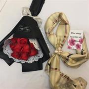 Giftset khăn + hoa sáp