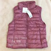 Áo Gile lông vũ Omlesa màu hồng vỏ đỗ