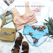Bikini xanh cam