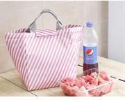 Túi giữ nhiệt kẻ sọc hồng