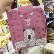 Túi giữ nhiệt con gấu màu hồng