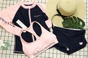 Bikini 3 mảnh màu Hồng Xanh