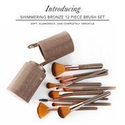 Bộ Cọ Trang Điểm BH Cosmetics Shimmering Bronze 12 Piece Brush Set